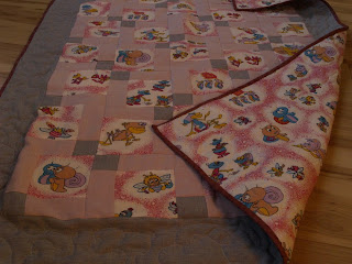Cutting 9 patch baby blanket