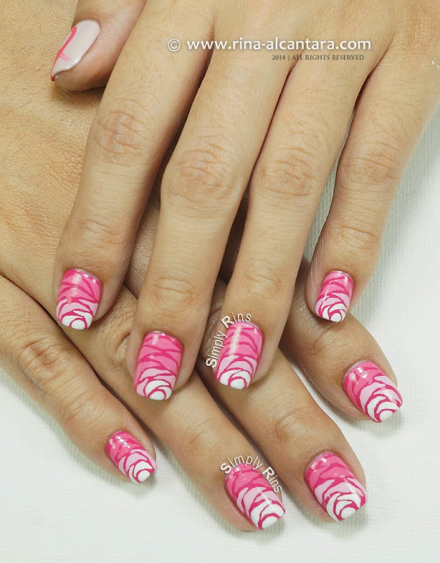 Nail Art for Breast Cancer Awareness (October 2014) by Simply Rins