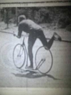 Louis-Georges BOGRAND en action sur la Trocyclette