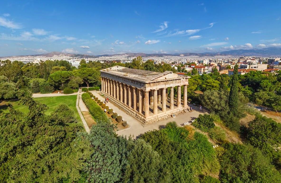 Акрополь, Афины, Греция • 360° Аэрофотопанорама