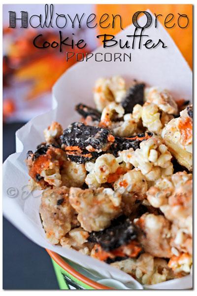 halloween-oreo-popcorn, Halloween Oreo Cookie Butter Popcorn