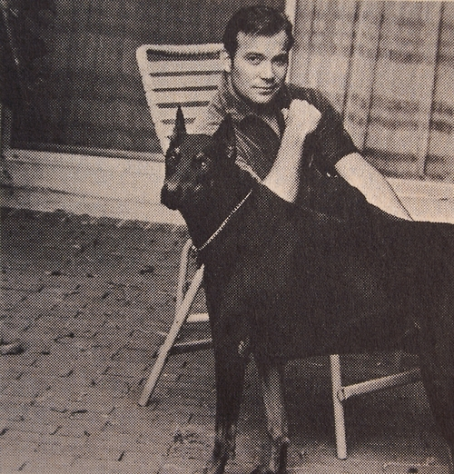 William Shatner and a dog