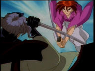 Kenshin can, apparently, defy gravity.