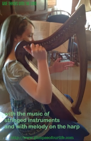 upon the harp with a solemn sound