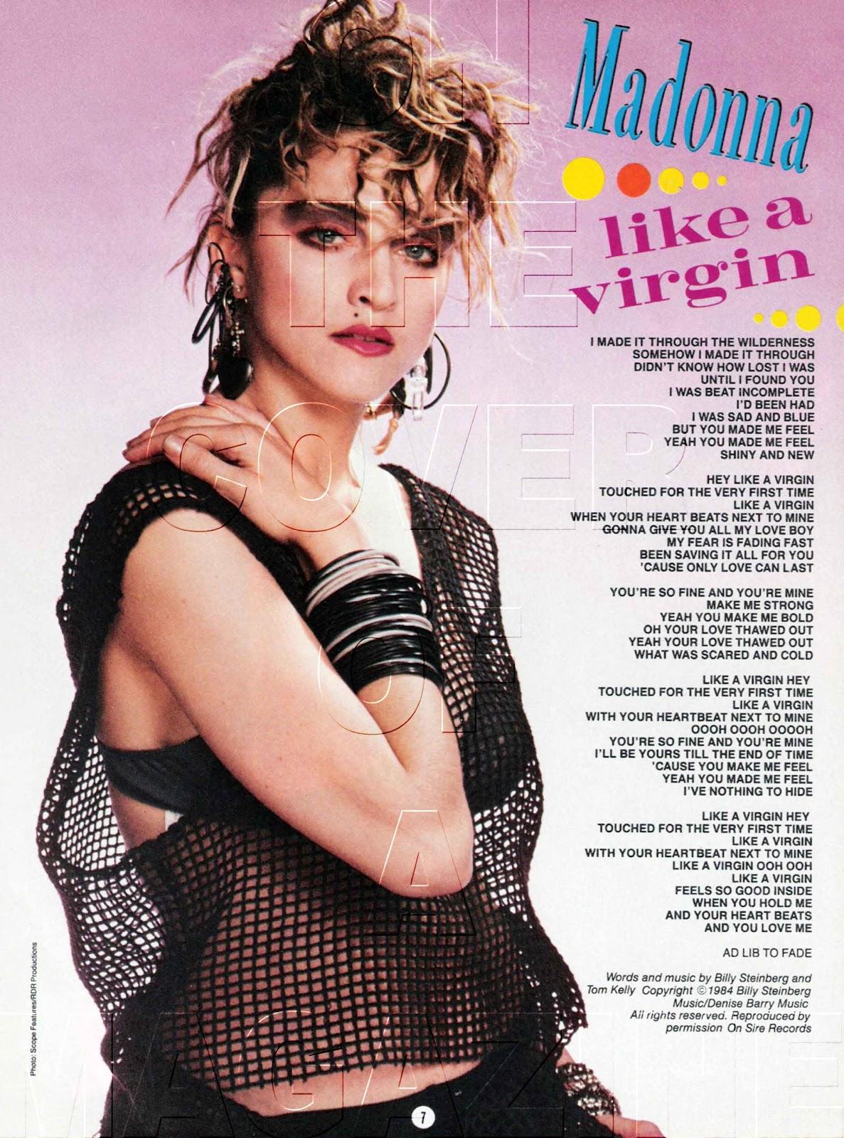 Madonna - Like A Virgin Lyrics