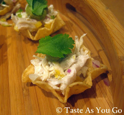 Mini Chicken Mango Tostadas - Photo by Taste As You Go