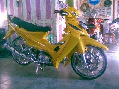 Supra X 100cc Modifikasi Ceper