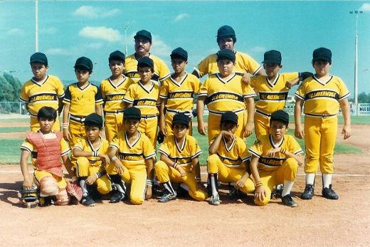 Representativo de Chihuahua en el campeonato nacional menor 1986