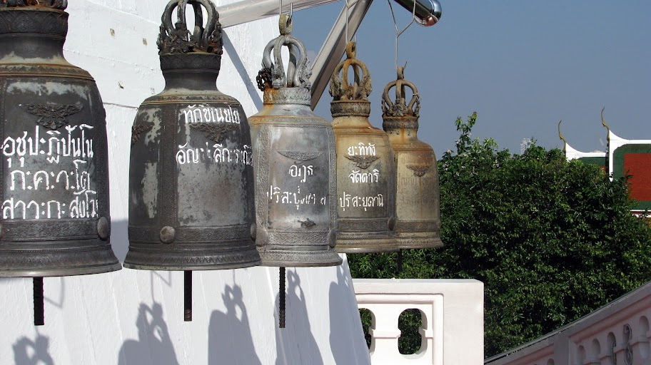 Bells outside Wat Saket, Bangkok.