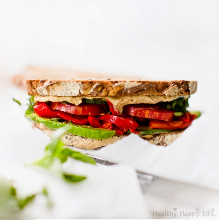 Seven Layer Santa Barbara Veggie Sandwich