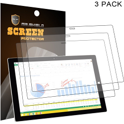 Mr Shield Microsoft Surface Pro 3 12 inch Anti-glare Screen Protector [3-PACK]