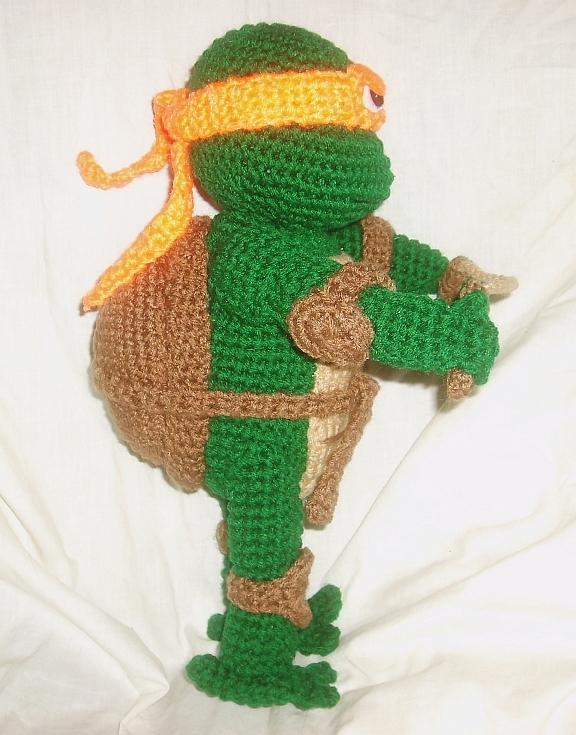 Free Crochet Pattern Ninja Turtle : WolfDreamer: TMNT Michaelangelo