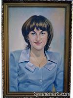 Портрет цветной, выполнен маслом на холсте, размер 50Х70 см