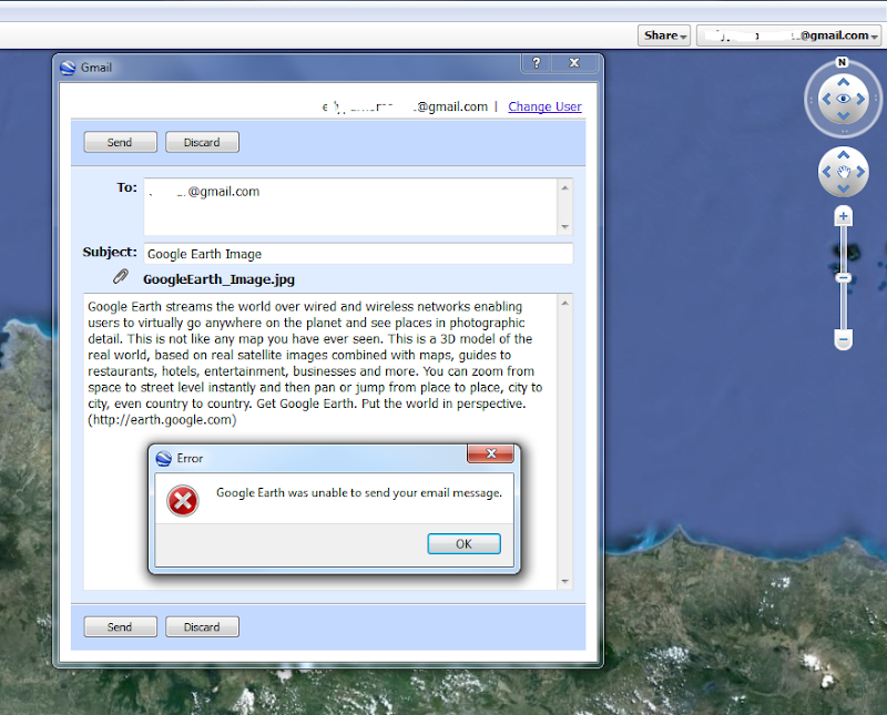 google earth send email