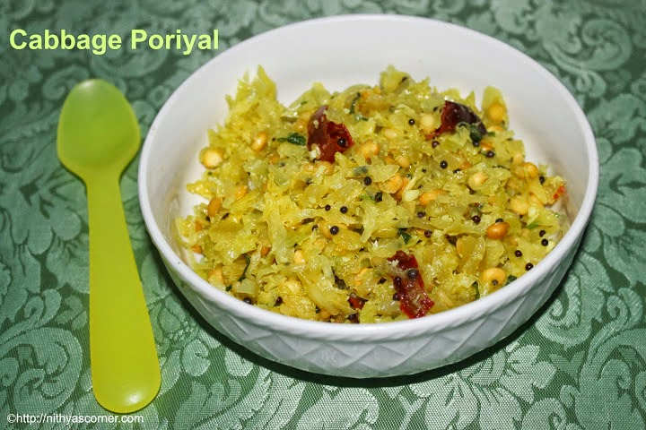 South indian cabbage poriyal