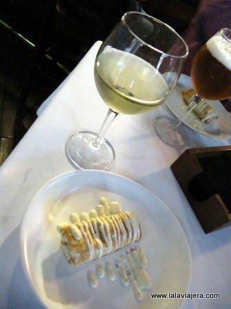 Rollito de morcilla, restaurante Birubí de Albacete