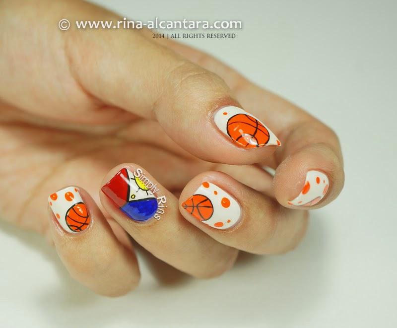 Nail art gilas pilipinas basketball simply rins gilas pilipinas 2014 basketball nail art prinsesfo Choice Image