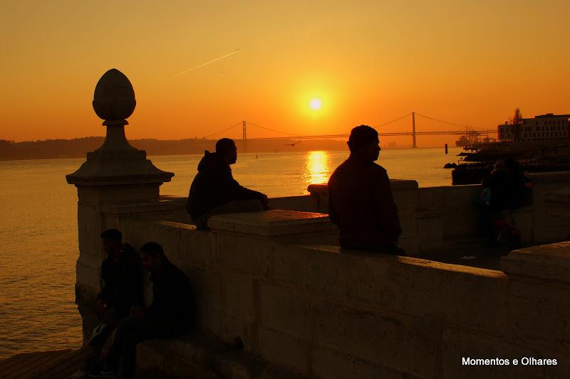 Pôr do sol em Lisboa, Cais das Colunas
