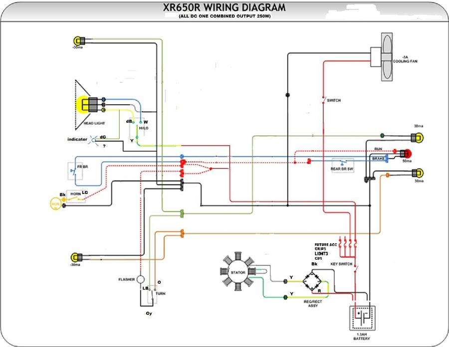xr 400 wiring diagram 02 xr 650 wiring diagram #8