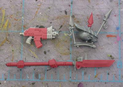Adeptus Custode weapon halberd conversion bits