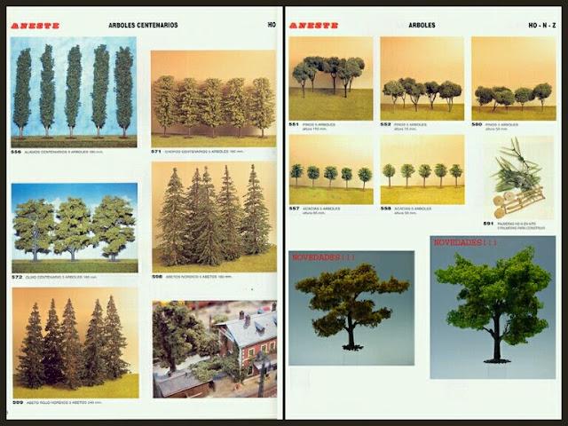 árboles del catálogo Aneste 1