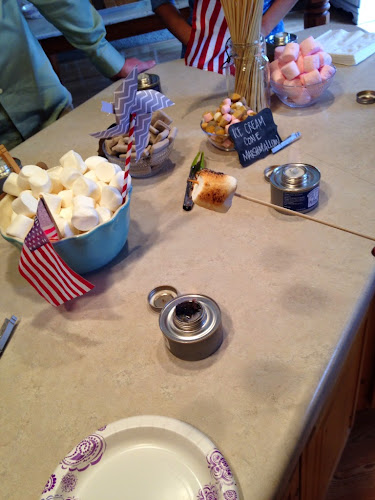 Sterno cans for roasting marshmallows, Gourment s'more party, smores