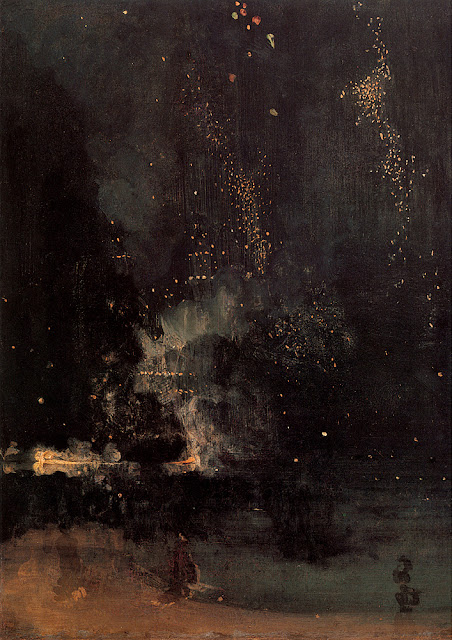 James Abbott McNeill Whistler - Nocturne in Black and Gold.The Falling Rocket.