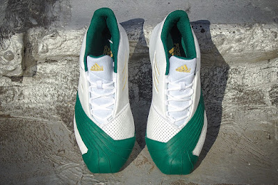 lebron james adidas tmac i svsm home 04 Closer Look at the Adidas TMAC I St. Vincent St. Mary Edition