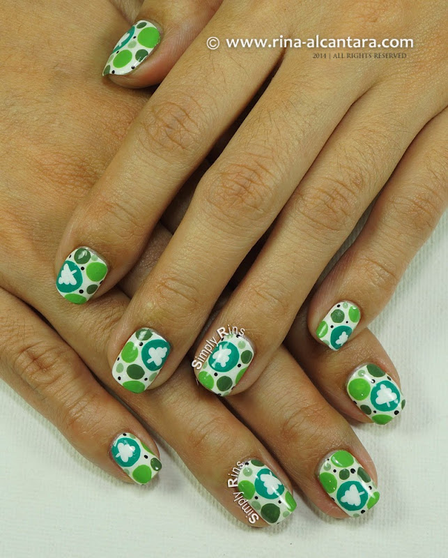 Spot the Christmas Tree Nail Art Design by Simply Rins