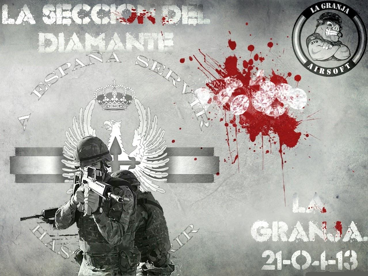21/04/13 - La Sección del Diamante - Partida abierta - La Granja Airsoft LA+SECCION+DEL+DIAMANTE.