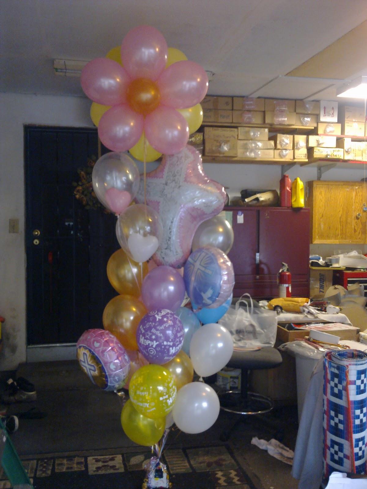 Balloon stop your one stop party shop balloon bouquet ideas for Balloon arrangement ideas