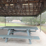Table in large shelter