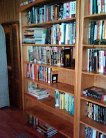 My beautiful bookshelves...full