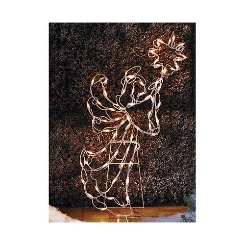42 inch lighted angel yard figure - Lighted Angel Outdoor Christmas Decorations