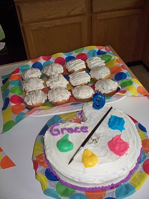 Artist Palette Cake Template : Artist Palette Cake Recipe