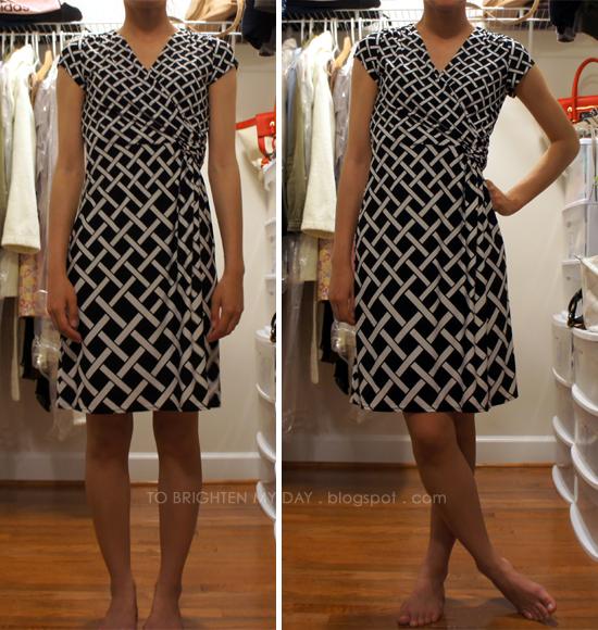 82c7c6771bb Review  White House Black Market Geo-Print Wrap Dress - to brighten ...