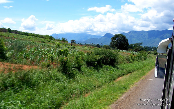 View from the bus on our way to Arusha
