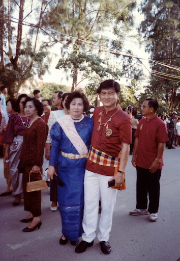 My host mom & dad back then! Shannon Heaton's study abroad experiences in Thailand