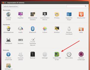 Driver Manager su Ubuntu 13.04 Raring