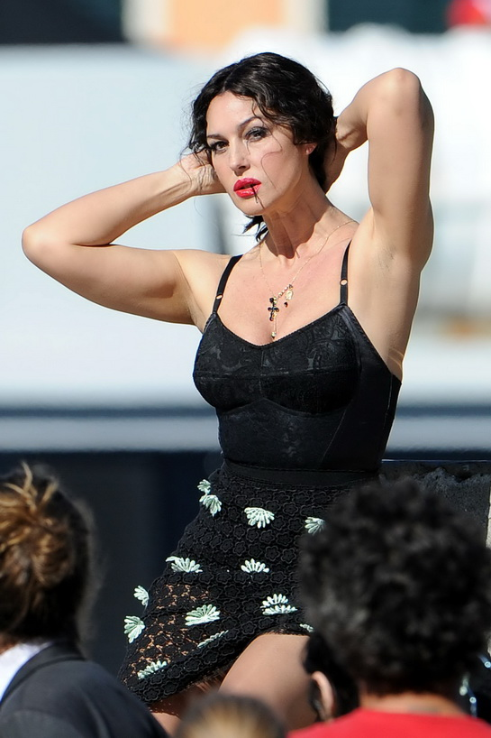Monica Bellucci Shooting For Dolce&Gabbana:celebrities0