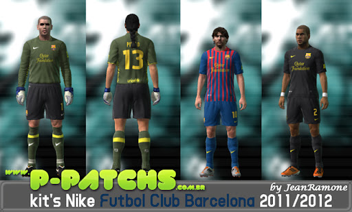 Barcelona 11-12 Kitset para PES 2011 PES 2011 download P-Patchs