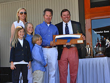 J/145 Bad Pak owner- Tom Hothus and family