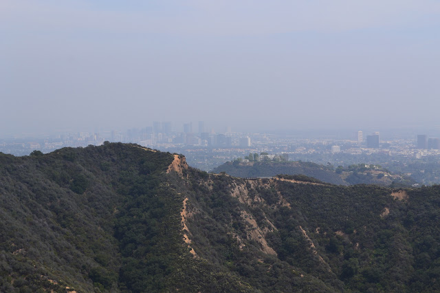 Backbone Trail with Los Angeles behind