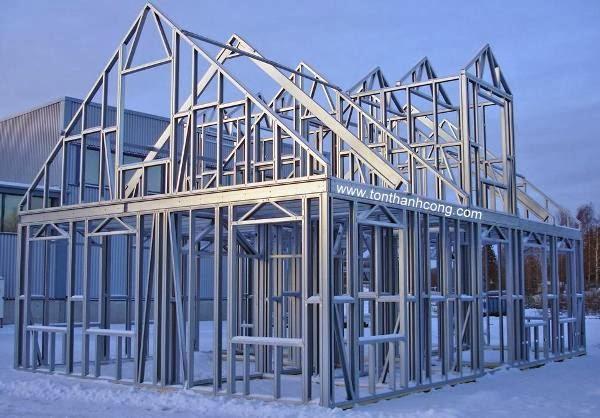 Xà Gồ C, Sắt Hộp Mạ Kẽm làm hệ thống khung xương của sàn nhà, mặt dựng, vách ngăn, trần nhà, mái nhà, cửa sổ, cửa chính