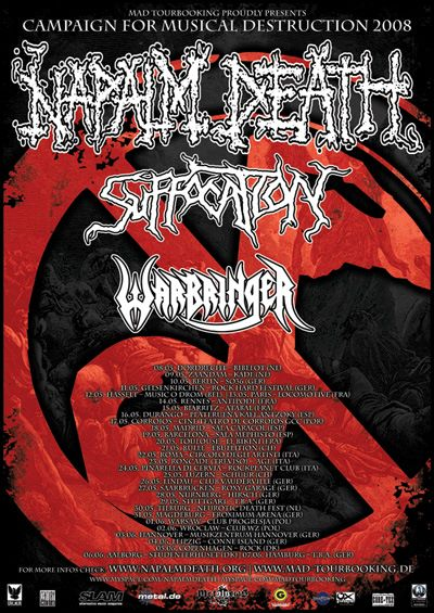 Napalm Death / Suffocation / Warbringer @ La Locomotive, Paris 13/05/2008