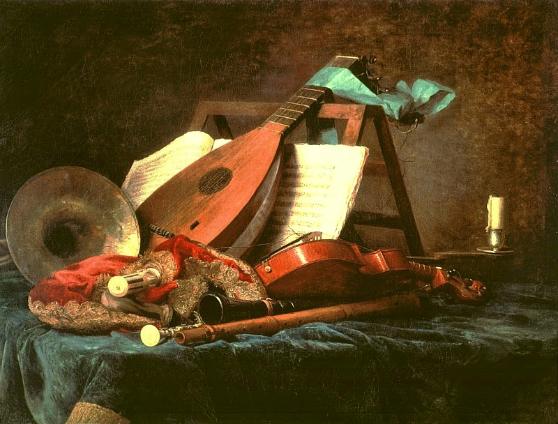 Anne Vallayer-Coster - Attributes of Music