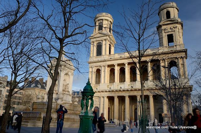 Церковь Сен-Сюльпис в Париже