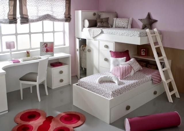 Dormitorios infantiles para ni as ni os de 0 1 2 3 4 y 5 a os - Camas dobles juveniles ikea ...