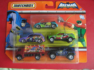 Matchbox die cast cars DC comics Batman Brave and Bold cartoon series Joker JLU Justice League Green Arrow Gorilla Grodd