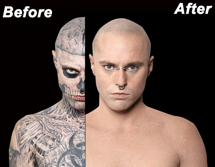 tattoo cover up makeup before and after